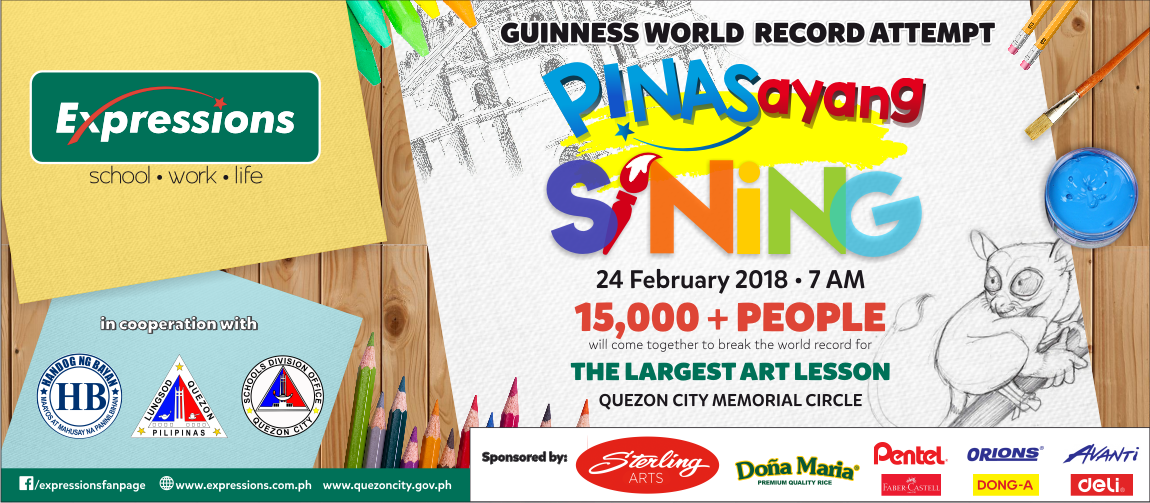Guinness World Record attempt for the Largest Art Lesson